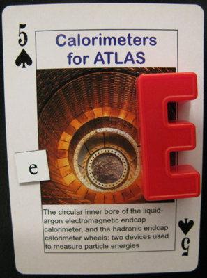 Five of Spades showing Calorimeters for ATLAS