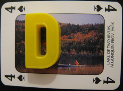 Four of Spades showing Lake Of Two Rivers, Algonquin Provincial Park