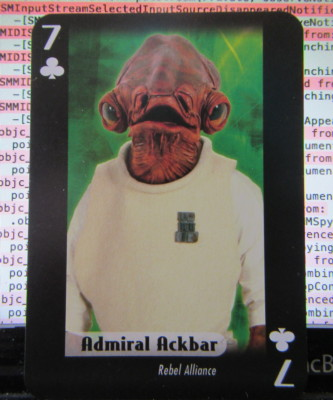 Seven of clubs featuring Admiral Ackbar