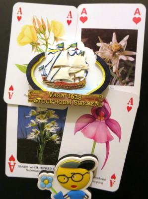 Aces of hearts with flowers on them
