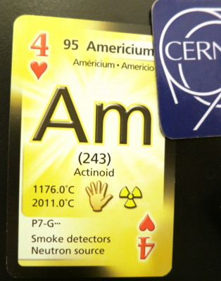 Americium four of hearts, because it's a source of neutrons.