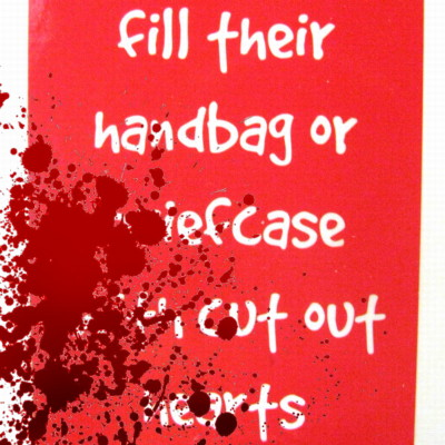Fill their briefcase with cut out hearts bloody 400