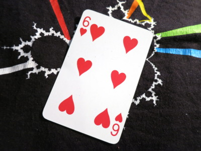 Six of Hearts on a Jonathan Coulton Mandelbrot Floyd shirt
